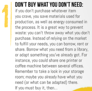 1 - Don't buy what you don't need
