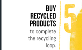 5 - Buy recycled products