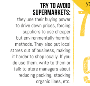 7 - Try to avoid supermarkets