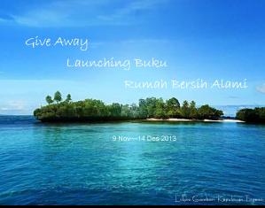 Give Away Launching Buku Rumah Bersih Alami